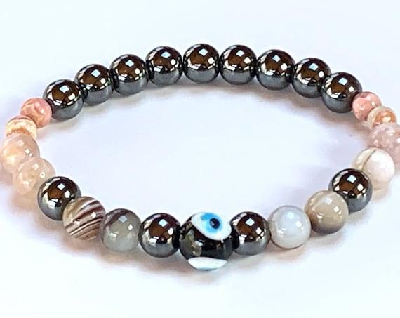 Energized Stop Quit Smoking Crystals, Stop Smoking Bracelet, Addiction free crystal bracelet, Quit Drug Addiction Healing Bracelet, Sobriety