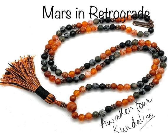 Crystals for Mars in Retrograde Mars Beads Necklace Planetary retrograde natal terraforming Veronica mars planet necklace healing crystals