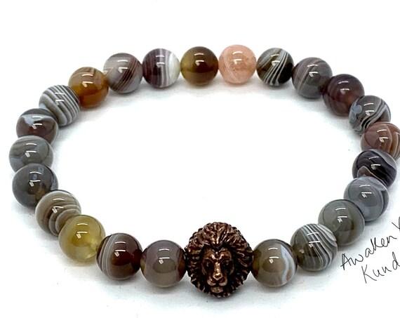 8mm/10mm Botswana Agate Bracelet, Healing Crystal Bracelet, Healing Crystals and Stones, Bracelets for Women, Mothers Day Gift, Gift for Her