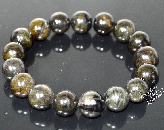 Empath Protection // 10 mm Green Tourmaline Bracelet // Aura and Negative Energy Protection // Reiki Jewelry // Healing Crystal Mala