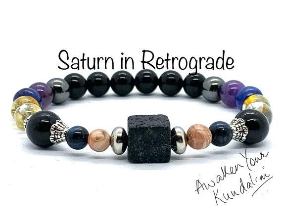 Crystals for Saturn in Retrograde Saturn Bracelet sega sailor saturn jewelry charm crystals for saturn glyph beads pseudo saturn v talisman