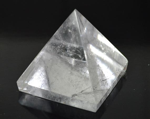 "AAA Grade Nirvana Crystal Clear Quartz Pyramid Reiki Healing Chakra Approx 2"" GemStone Genuine and Energized Quartz Crystal Balancer Pyramid"