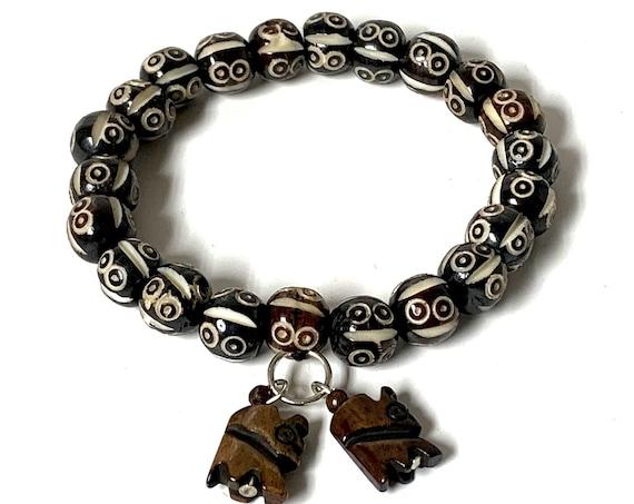 Cyber Monday Sale Tibetan Yak bone, Healing Bracelet , Bangle,  Tibetan, Healing Bracelet, YakBone Christmas Healing Jewelry Tibetan Jewelry