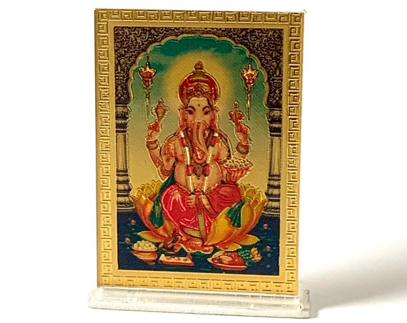Lord Ganesha Framed Picture in Acrylic, Acrylic Photo Frame, Religious Gift, Spiritual Gift, Diwali Gift, For Office desk, side desk