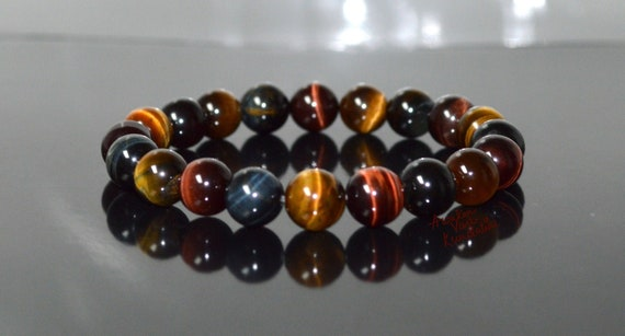 AAA Tiger Eye Blue Tigers Eye, Bracelets for Women, Mens Bracelet Men Blue Tiger Eye, Red Tiger Eye, Unisex