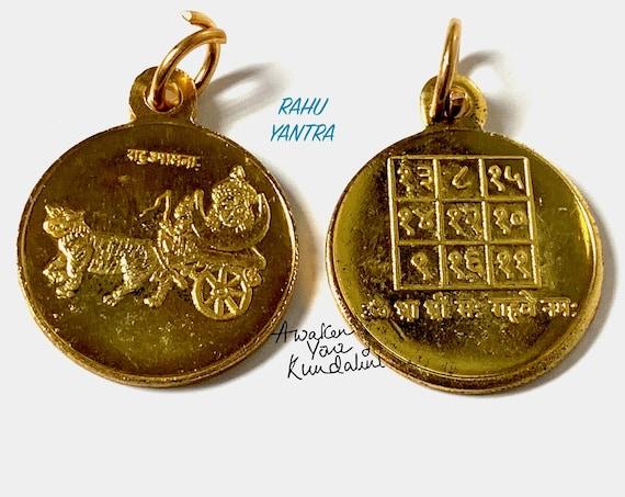 Energized and Blessed Rahu Yantra Amulet Kavach Pendant