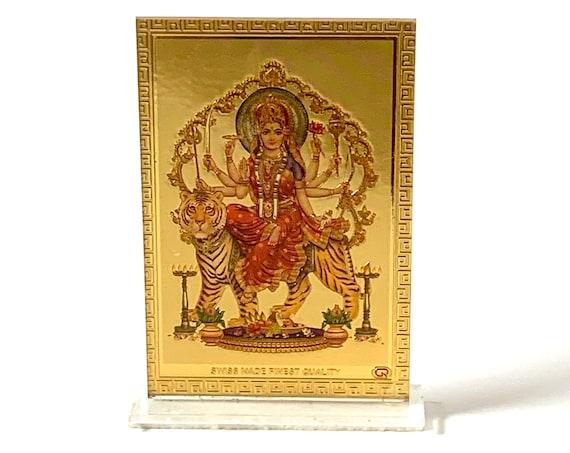 Maa Durga / Maa Ambe / Maa Sherawali / Mata Rani / Bhavani / Amba / Parvati - Acrylic Photo FrameSri Durga Bisa Beesa Yantra Navdurga