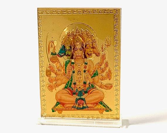 Sri Panchmukhi Hanuman Panch Mukhi Hanuman - Small Acrylic Picture Frame PhotoChristmas