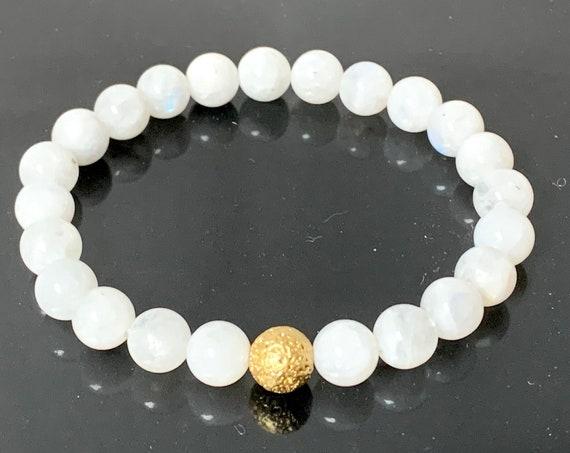 Moonstone, Crystal Bracelet, Moonstone Bracele,  Healing Crystals, Chakra Bracelet, Wish Bracelet, Healing Bracelet, New Beginnings Bracelet