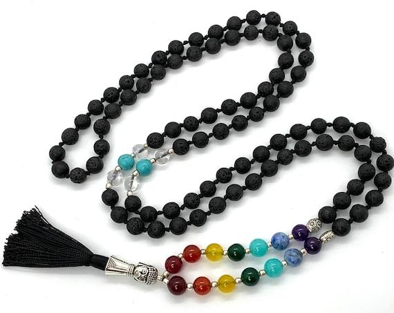 7 chakra stones bracelet, men's chakra bracelet, 7 chakra stone jewelry, chakra stone crystal jewelry  7 chakra mala beads necklace meaning
