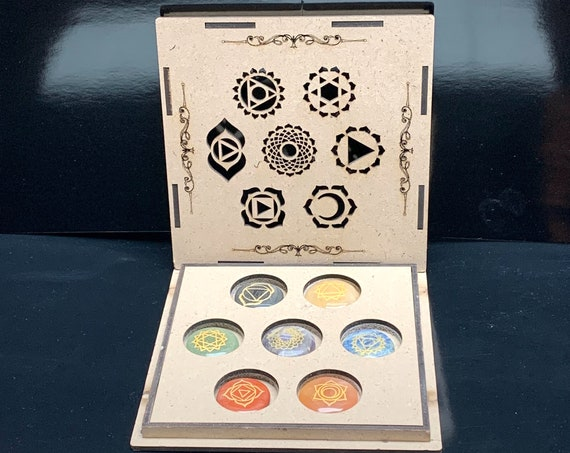 Healing Crystals and Stones Gift Set / Home Cleansing Wellness Box : 7 Chakra tumbles,