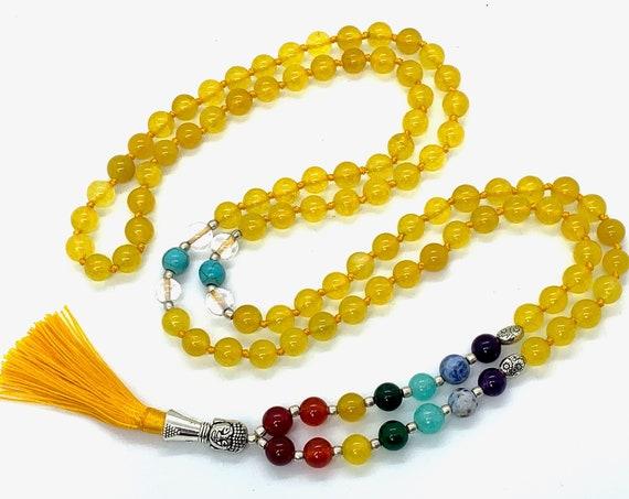 7 Chakra Bracelet. Anxiety bracelet. Natural Crystal Healing Jewellery. Mandala Yoga bracelet. Meditation charm. 7 Chakra Mala Beads Necklac