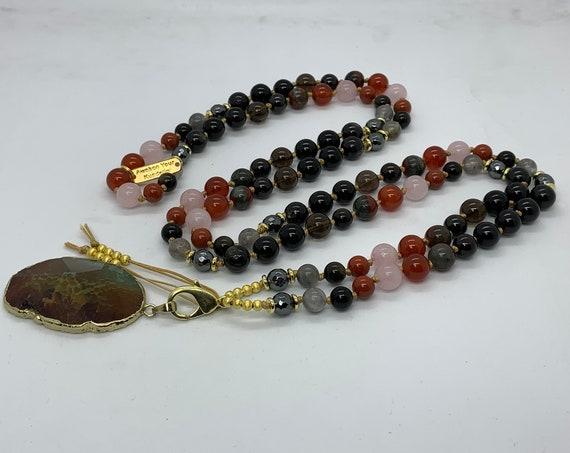 Root Chakra & Sacral Chakra Mala Beads Necklace