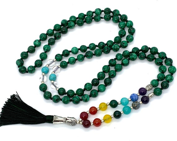 Manifestation bracelet, Manifestation stone, attract love crystal for men, dark green manifestation stone, prosperity and love crystal gift