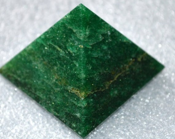 "Energized Blessed Reiki Healing,Pyramid Green Jade, Heart Chakra Pyramid, Jade pyramid, Green Jade Pyramid, Jade Pyramid 1.75""-2"" Inches"