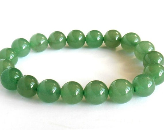 green aventurine mala bracelet beaded bracelet charm gemstone stretch bracelet wish bead crystal bracelets men mens womens birthstone bracel