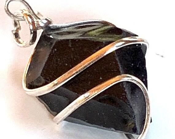 Blue Goldstone Necklace, Goldston Birthstone, Genuine Gemstone Nugget Pendant Necklace, Goldstone Rough, Crystal Necklace, Bride Wedding gif