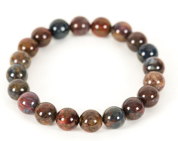 AAA grade Pietersite Bracelet, Stretch bracelet, Beaded bracelet, Statement Bracelet, Natural Pietersite Gemstone energy bead bracelet jewel