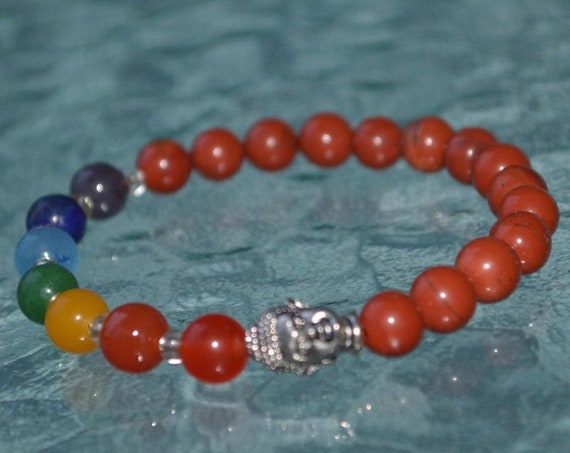 7 Chakra mala bracelet, 7 Chakra beaded bracelet, mala beads, Yoga necklace, Tassel necklace, Japa mala, Prayer beads, Healing stones