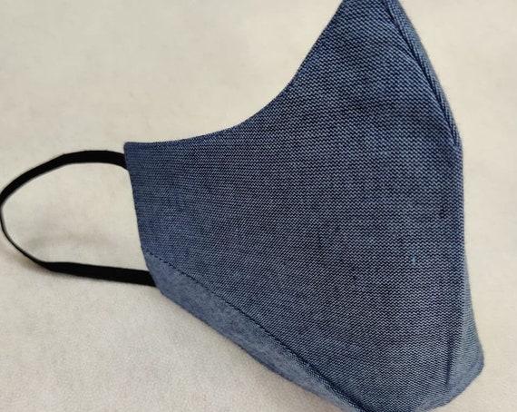 5 Layered Pack Cotton Face Mask , Premium Mask, Filter Pocket, Reusable, Washable, Adjustable Ear Loops