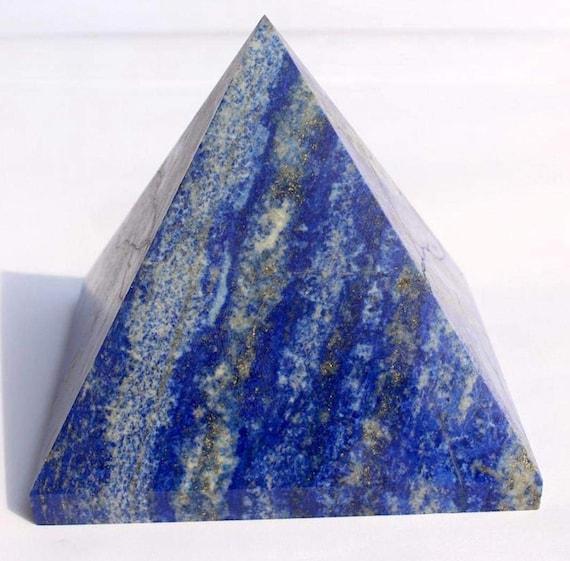 Lapis Lazuli crystal pyramid Energized & Charged Gemstone Chakra Healing Pyramid, Reiki Healing Lapis Lazuli Pyramid,