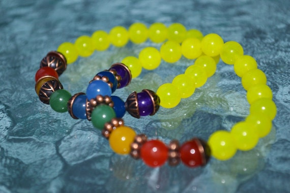 7 Chakra stones beaded Bracelet Yoga Spiritual Jewelry beaded bracelet yoga jewelry women yoga jewelry 7 chakra bracelet, 7 chakra