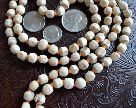 108 Tulsi Holy Basil Hand Knotted Mala Beads Necklace - Karma Nirvana, Meditation, 6mm, Prayer Beads, For Awakening Chakra Kundalini