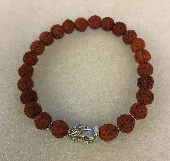 Cyber Monday Sale Rudraksh, Rudraksha, beads, Budha, Wrist Mala Beads, Healing Bracelet - Blessed and Energized with Hindu Vedic Mantras