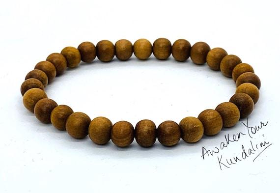 Sandalwood bracelet Wood Bead Bracelet, Wood Bracelet Men, Wooden Bracelet Men, Wooden Bracelet Men, Manly Gift Mens Gift, Mens Beaded Brace