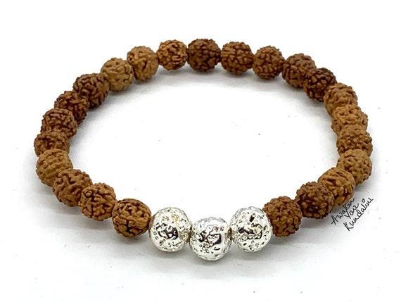 Rudraksha, Rudraksha Seed Wrist Mala/Bracelet, Men's Rudraksha Beads, Yogi's, Rudraksha Malas, Rudraksha Bracelet for women, Meditation Bead