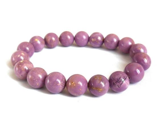 Lilac AAA Phosphosiderite Gemstone Bead Bracelet Jewelry Gifts for Women, Bracelets for Women Gifts for Her Crystal Bracelet Girlfriend Gift