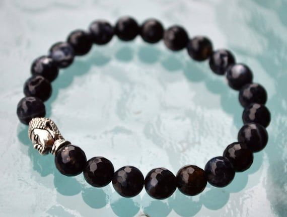 Genuine Black Tourmaline mala bracelet - deflecting radiation energy,repel and protect from negative energy and changes into positive energy