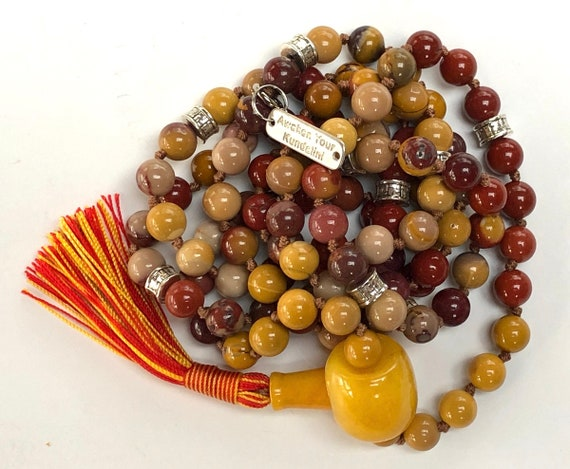 8mm Genuine AAA Grade Mookaite Mala Beads Necklace,Mookaite Jewelry   - Grounding, Fertility, Energizing, Stability, Decision making, Root