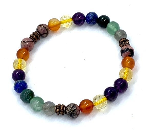Healing Crystals for Immunity Support & viral Infections Crystal Healing Bracelet Immune System booster Protection wist mala prayer beads