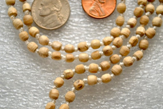 Holy Basil Ram Tulsi Hand Knotted Om Mala Beads Necklace -Blessed Karma Nirvana Meditation 6 mm Prayer Beads For Awakening Chakra Kundalini