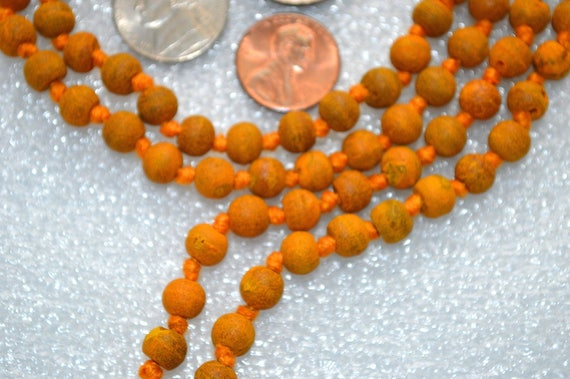 Haldi mala Hand Knotted Turmeric beads Japa Mala Beads Necklace - Energized Nirvana Meditation Prayer Beads For Awakening Chakra Kundalini