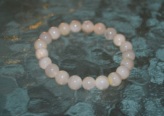 Genuine Mother of Pearl Bracelet for Fertility Pregnancy Fluid Retention Protective, Calming emotions, Endurance, Intuition, decision making