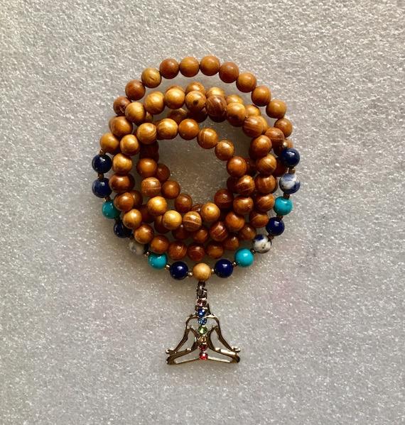 Third Eye Chakra - Mala Beads - 108 Mala Beads - Prayer Beads - Wrap Mala - Wrist Mala - Gift For Her - Gift for Girls - Yoga Gift - Calm