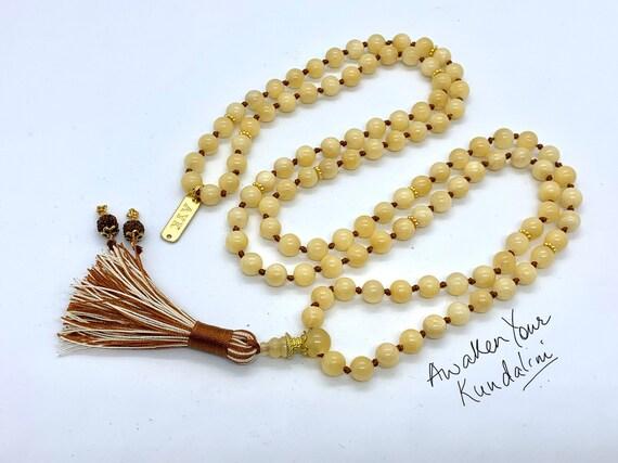 8 mm AAA Grade Yellow Calcite Mala Beads Necklace, Calcite Jewelry, Calcite Wrap Mala, Calcite knotted mala beads,