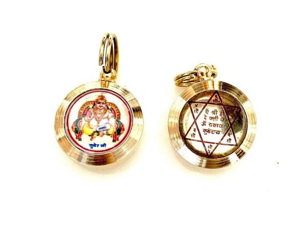 Cyber Monday Sale Sri Kuber Yantra Kavach Pendant Hindu Amulet - Wealth, Power & Enlightenment Christmas gifts