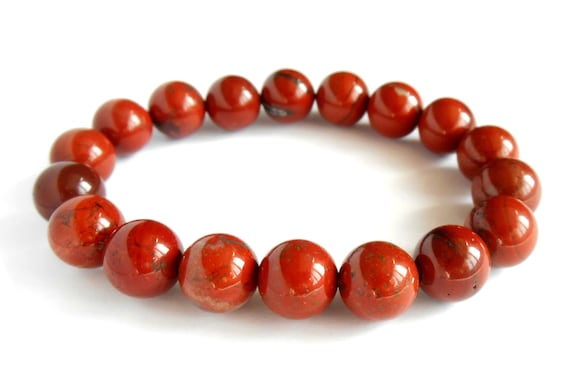 red jasper mala bracelet beaded bracelet charm gemstone stretch bracelet wish bead crystal bracelets men mens womens birthstone bracelet