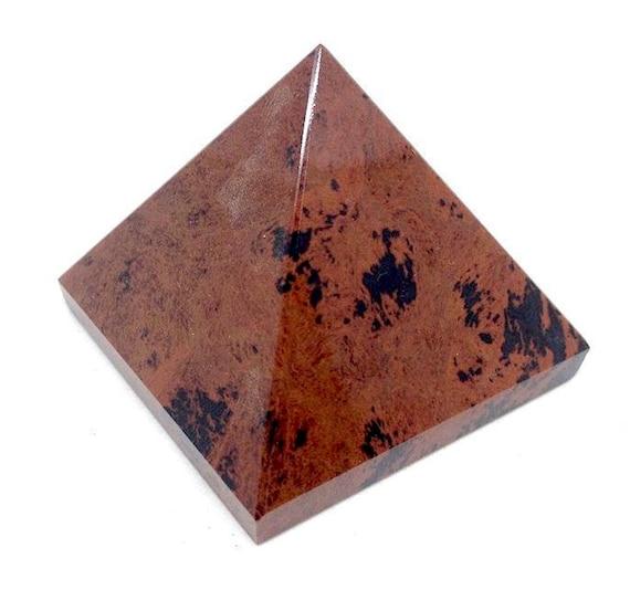 Mahogany Obsidian Chakra Pyramid Reiki Healing Crystals and Stones Rose Quartz Obsidian Gemstone Energy Pyramid stones pendulum Reiki Healin