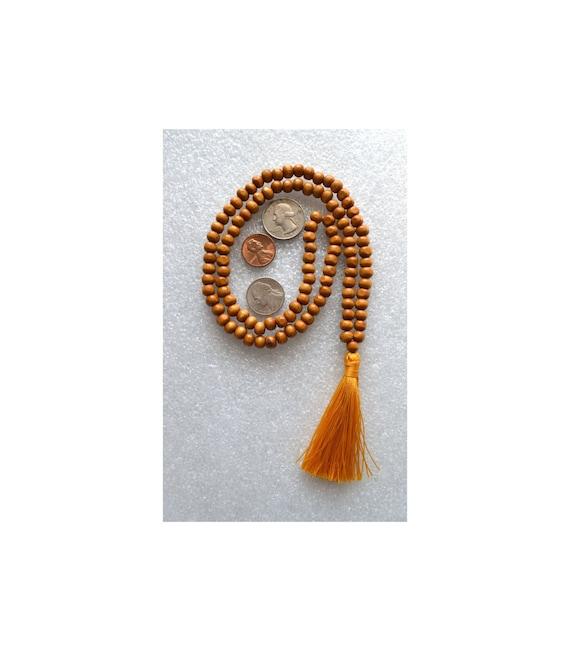 108 Tulsi Holy Basil Handmade Mala Beads Necklace-Blessed Energized Karma Nirvana Meditation 8mm Prayer Beads For Awakening Chakra Kundalini