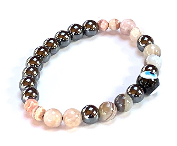 Energized Stop Quit Smoking Crystals, Stop Smoking Bracelet, Addiction free crystal bracelet, Quit Drug Addiction Healing Bracelet, Sobriety