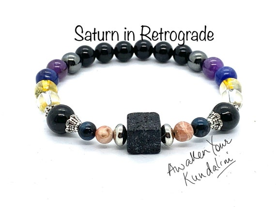 Crystals for Saturn in Retrograde Saturn Bracelet sega sailor saturn jewelry charm crystals for saturn glyph beads pseudo saturn v talisman