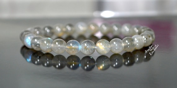 AAA 8mm labradorite protection bracelet, Labradorite protection bracelet positivity good luck chakra stone bracelet