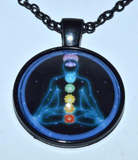 Chakra Crystals Necklace, Healing Necklace, 7 Chakra Pendant Necklace, Yoga Gift for Her, Boho Rainbow Lariat Necklace, Balancing Chakras