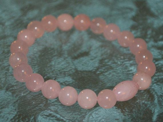 Rose Quartz Mala Bracelet With Amethyst Gemstone - Healing Stone Bracelet - Yoga Bracelet - Wrist Mala Bead Bracelet - Rose Quartz Bracelet