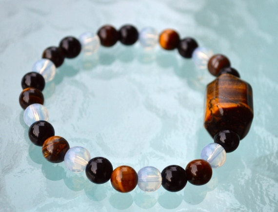 8mm Tiger Eye Wrist Mala Beads Healing Bracelet - Blessed & Energized Karma Nirvana Meditation Prayer Beads For Awakening Chakra Kundali