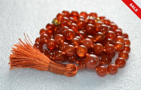 Sacral Chakra mala, Carnelian Citrine mala beads necklace, chakra healing, japa mala, long crystal carnelian beaded necklace, carnelian jewe